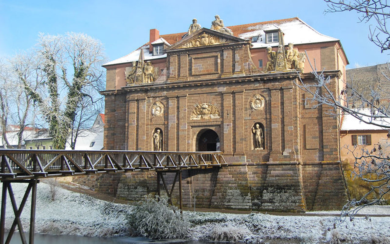 Rheintor Breisach Winter